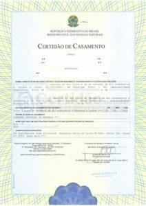 Exemplo de tradução juramentada em inglês certidão de casamento